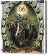 Springfield Bicycle Club 1886 Canvas Print