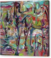 Springponies Canvas Print