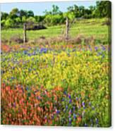 Spring's Floral Quilt Canvas Print