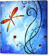 Springs Sweet Song Original Madart Painting Canvas Print