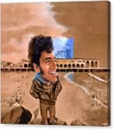 Springsteen On The Beach Canvas Print