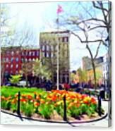 Springtime At Abingdon Square Park #2 Canvas Print