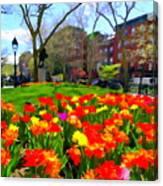 Springtime At Abingdon Square Park Canvas Print