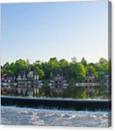 Springtime At Boathouse Row In Philadelphia Canvas Print