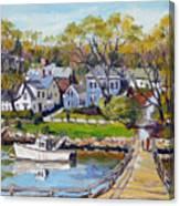 Springtime At Lobster Cove Annisquam Canvas Print