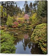 Springtime At Portland Japanese Garden Canvas Print