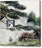 Springtime At Round Pond Maine Canvas Print