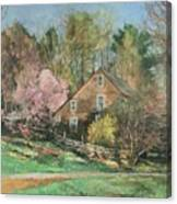 Springtime On Longhill Canvas Print