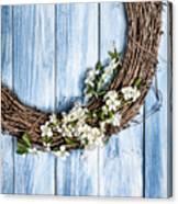 Springtime Wreath Canvas Print
