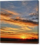 Spwinter Sunset Canvas Print