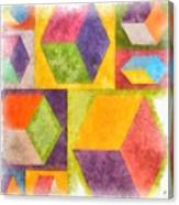 Square Cubes Abstract Canvas Print