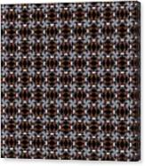 Square Rose Woven Pattern Canvas Print