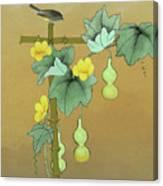 Squash Vine And Bamboo Canvas Print