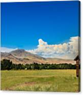 Squaw Butte And Little Butte Canvas Print