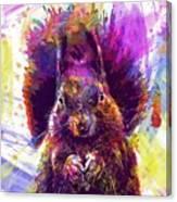 Squirrel Animals Possierlich Nager  Canvas Print