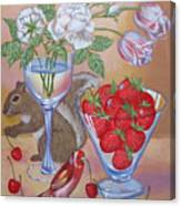 Squirrel Cherry .2006 Canvas Print
