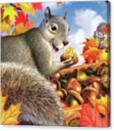 Squirrel Treasure Canvas Print