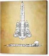 Sr-71 Blackbird Canvas Print