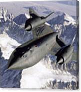 Sr-71b Blackbird In Flight Canvas Print