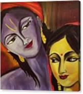 Sreekrishna With Radha Canvas Print