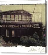 S.s. Grand View Hotel...ship Of The Alleghenies Prow Canvas Print