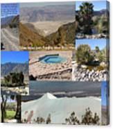 Saline Valley Collage Canvas Print