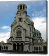 St Alexander Nevski Cathedral In Sofiq Canvas Print