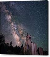 St. Aloysius Church Ruin Under The Stars Canvas Print