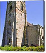 St Andrew's Church At Cubley In Derbyshire Canvas Print