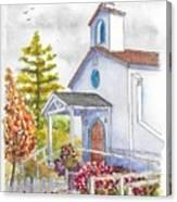 St. Anthony's Catholic Church, Mendocino, California Canvas Print