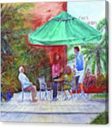 St. Armand's Circle Cafe Scene Canvas Print