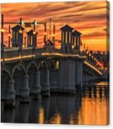 St Augustine Bridge Of Lions Sunset Dsc00565_16 Canvas Print