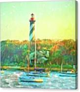 St Augustine Lighthouse Waterscaped Canvas Print