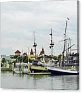 St Augustine Marina From The Water Canvas Print