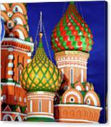 St Basils Cathedral In Moscow Russia Canvas Print