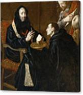 St Benedict Blesses The Bread Canvas Print