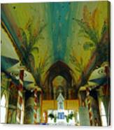 St Benedicts Painted Church 6 Canvas Print