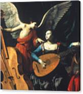 St. Cecilia And The Angel Canvas Print