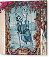 St Christovao -st Christopher Canvas Print