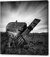 St Cyrus Wreck Canvas Print