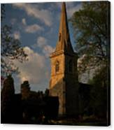 St Davids Church At Sundown Canvas Print