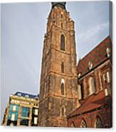 St. Elizabeth's Church Tower In Wroclaw Canvas Print