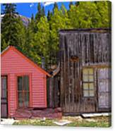 St. Elmo Pink House And Barn Canvas Print