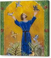 St. Francis And Birds Canvas Print