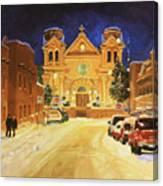 St. Francis Cathedral Basilica  Canvas Print