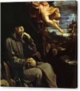 St Francis Consoled Canvas Print