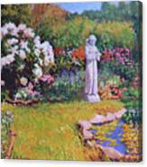 St. Francis In The Garden Canvas Print