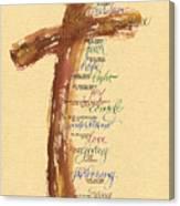 St Francis Peace Prayer  Canvas Print