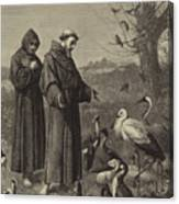 St Francis Preaches To The Birds  Canvas Print