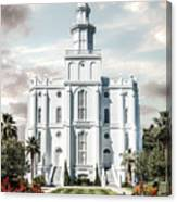 St George Temple - Tower of the Lord Canvas Print
